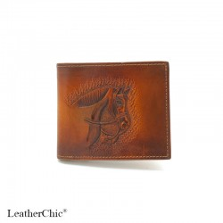 Hand Carved Men's Wallet WS 007 Horse