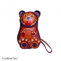 Large Size Coin Purse Soft Grizzly Bear