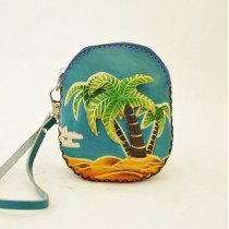 Large Size Coin Purse Soft CP 120.1 Palm Tree