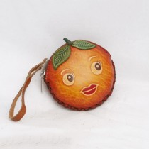 Regular Size Coin Purse Soft  CP 130.6 Orange