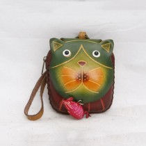 Large Size Animal Purse Shaped Cat with Mouse