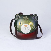 Medium Size Animal Crossbody Bag Cat