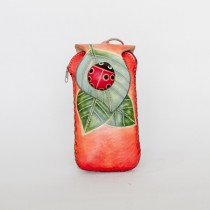 Smart Phone Case for IPhone 6 or 7 AP 418 Ladybug on Leaf