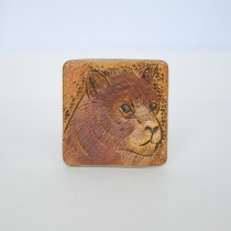Hand Carved Fridge Magnet Tiger