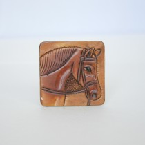Leather Hand Carved Fridge Magnet