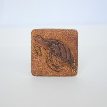 Hand Carved Fridge Magnet Sea Turtle