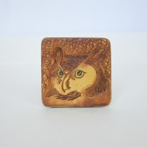 Hand Carved Fridge Magnet Owl
