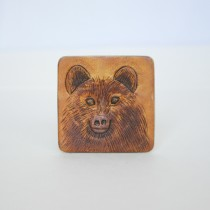 Hand Carved Fridge Magnet Black Bear