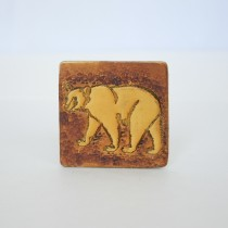 Hand Carved Fridge Magnet Polar Bear
