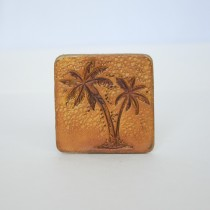 Hand Carved Fridge Magnet Palm Tree