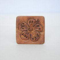 Hand Carved Fridge Magnet Hawaii Flower
