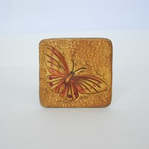 Hand Carved Fridge Magnet Butterfly