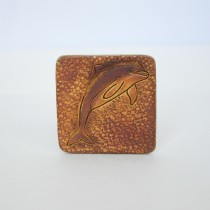 Hand Carved Fridge Magnet Dophine