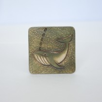 Hand Carved Fridge Magnet Whale