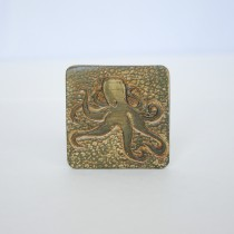 Hand Carved Fridge Magnet Octopus