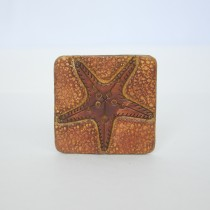 Hand Carved Fridge Magnet Star Fish