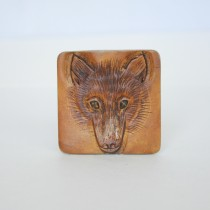 Hand Carved Fridge Magnet Fox