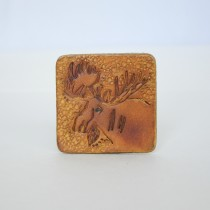 Hand Carved Fridge Magnet Moose