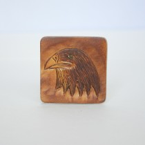 Hand Carved Fridge Magnet Eagle