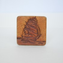 Hand Carved Fridge Magnet Sail Boat