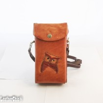 Hand Carved Cross-body Bag HB 16.3 Owl