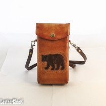 Hand Carved Cross-body Bag HB 19.1 Bear