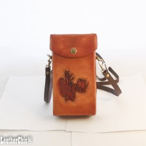 Hand Carved Cross-body Bag HB 36 Moose