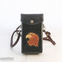 Hand Carved Cross-body Bag HB 48 Eagle