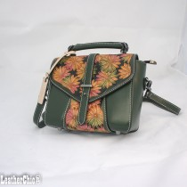 Leather Hand Carved Mid Size Handbag HB 704