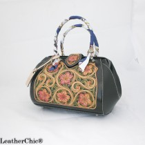 Leather Hand Carved Large Size Handbag  HB 801