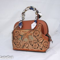Leather Hand Carved Large Size Handbag  HB 802.1