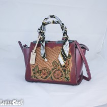 Leather Hand Carved Large Size Handbag HB 803