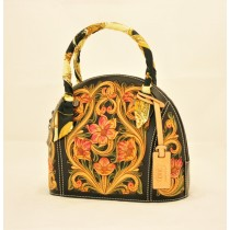 Leather Hand Carved Large Size Handbag HB 804