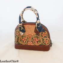 Leather Hand Carved Large Size Handbag HB 805
