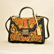 Leather Hand Carved Large Size Handbag HB 807