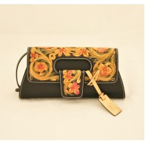 Leather Hand Carved Evening Bag HB 901