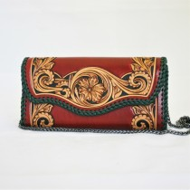 Leather Hand Carved Evening Bag HB 901.1