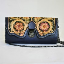 Leather Hand Carved Evening Bag HB 901.2