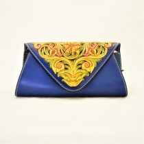 Leather Hand Carved Evening Bag HB 901.3