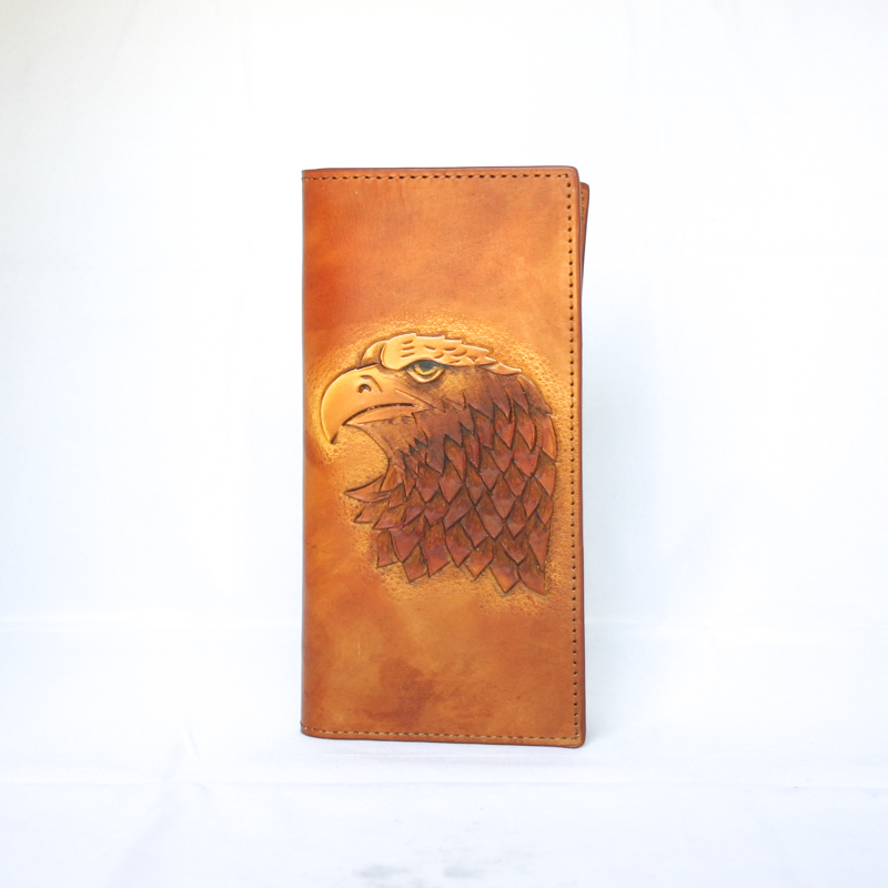 Hand carved long wallet wl eagle