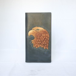 Hand Carved Long Wallet WL 048 Eagle