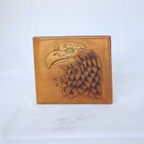 Hand Carved Short Wallet