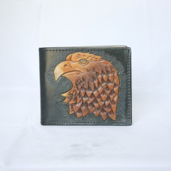 Hand Carved Men's Wallet WS 048 Eagle