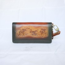 Hand Carved Clutch WZ 020 Maple Leaf