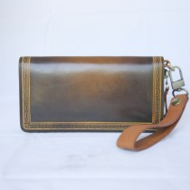Hand Dyed Clutch Plain Color